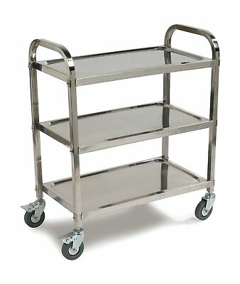 Carlisle UC4031529 Stainless Steel Knockdown Utility Cart 400-Lb Capacity 36-...