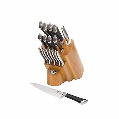 Chicago Cutlery 1119644 Fusion Forged 18-Piece Knife Block Set Stainless Steel