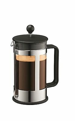 Bodum Kenya 8-Cup French Press Coffee Maker 34-Ounce Stainless Steel Black