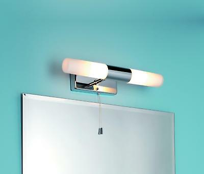Ip44 bathroom double wall light pull cord switch chrome glass shades ip44 bathroom double wall light pull cord switch chrome glass shades 85014 aloadofball Image collections