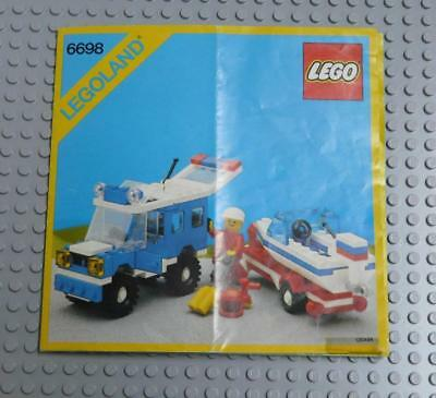LEGO INSTRUCTIONS MANUAL BOOK ONLY 6698 RV with Speedboat x1PC