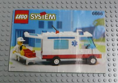 LEGO INSTRUCTIONS MANUAL BOOK ONLY 6666 Ambulance x1PC