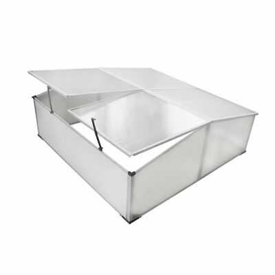 # 108cm Garden Mini Greenhouse Cold Frame 4 Lid Polycarbonate Cover Hot House Sh