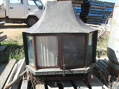 No--2 --WOOD-HEATER  --COPPER DOME TOP  --LOOK GREAT  POLISHED  UP &  WORKING