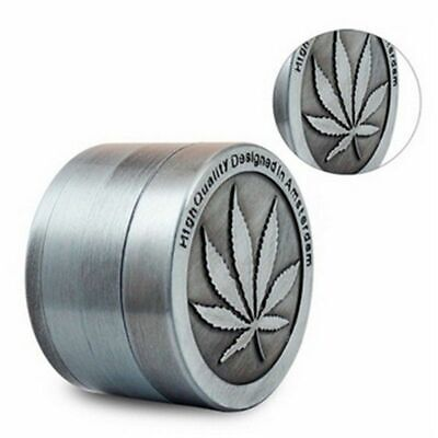 US Tobacco Herb Spice Grinder 4 Piece Herbal Alloy Smoke Metal Chromium Crusher