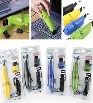 Computer Vacuum Mini USB Keyboard Cleaner Laptop Brush Dust Cleaning Kit