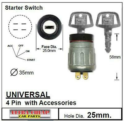 Ignition Switch Truck Tractor Buggy Fork Lift New Universal 4 Position With Keys