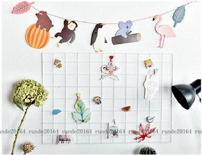 Metal Multifunctional Mesh Grid Panel Decor Photo Wall Art Display Organizer