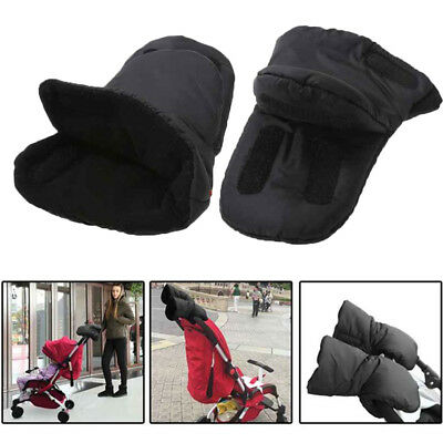 Winter Waterproof Pram Gloves Stroller Pushchair Warm Thick Hand Muff Mittens Q