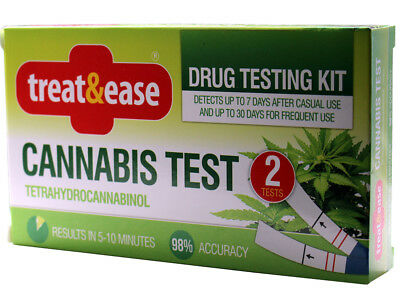 Cannabis Test Kit 98% Accuracy 2 Tests 7-30 Days Tetrahydrocannabis 10 Min Test