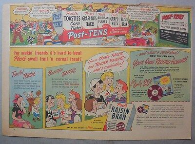 Post Cereal Ad: Your Own Record  Albums ! Premium 1930's-1940's 11 x 15 inches