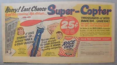 """Ralston Cereal Ad: """"Super-Copter"""" Premium from 1951 Size: 7 x 15 inches"""