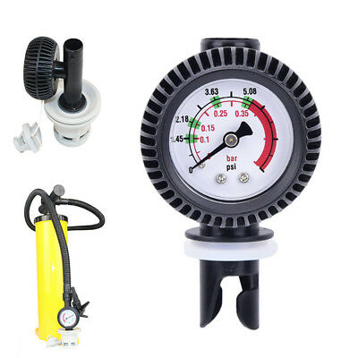 1x Air Pressure Gauge Inflatable Boat Air Connector for Kayak Raft Sup Board new