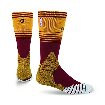 Adults UK9-12 Cleveland Cavaliers Stance On-Court Home Crew Socks M145