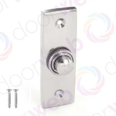 Chrome Door BELL PUSH Button Press Front Wired Chime Ringer 75mm