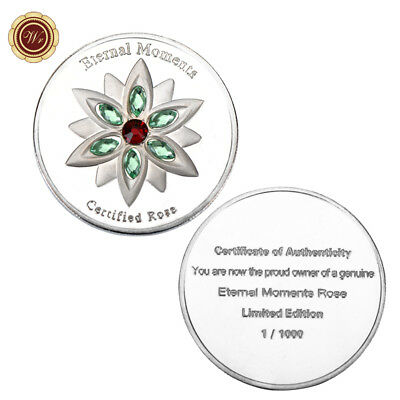 WR Eternal Moments Certified Rose Silver Clad Commemorative Coin Ladies Gifts