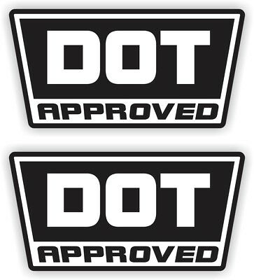 2 DOT Approved Motorcycle Helmet Stickers  Decals  D.O.T. Hard Hats 2-pack