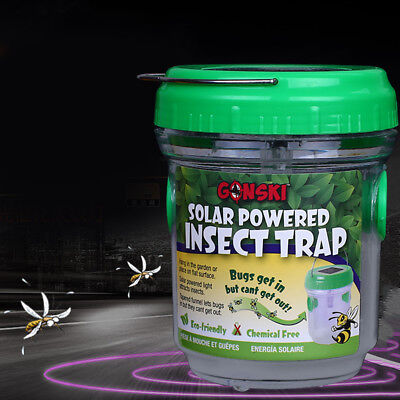 Solar Energy Mosquito Killer Insect Pest Bug Trap Zapper Handle Portable