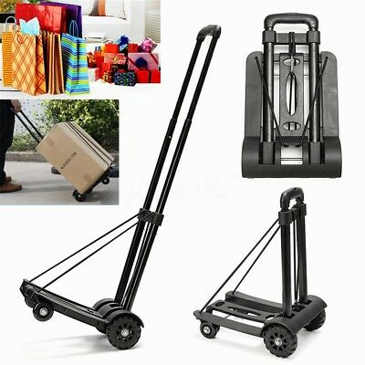 Folding Aluminium Heavy Duty Luggage Trolley Hand Truck Foldable Shopping Cart