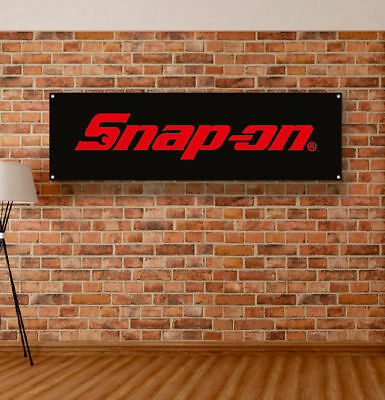Snap ON Tools Vinyl Banner Sign Garage Shop Mancave Mechanic Handyman Adversting