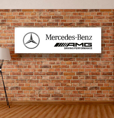 MERCEDES BENZ Vinyl Banner Sign Garage Workshop Flag Shipping Ems Russian post
