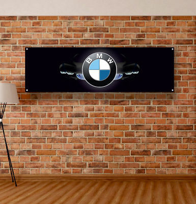 BMW Vinyl Banner Sign Garage Workshop Flag Poster Logo Emblem Alpina