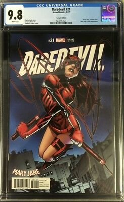 Daredevil (2017) #21 CGC 9.8 Humberto Ramos Mary Jane Month Variant Cover!