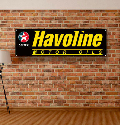 HAVOLINE Vinyl Banner Sign Garage Shop Adversting Flag Poster Racing Motor Oil