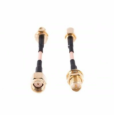 5cm Pigtail RP SMA Male to RP SMA Female Extension Cable Wire