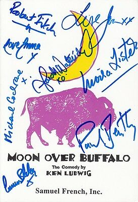 JOAN COLLINS & CAST - SIGNED Samuel French Script & More MOON OVER BUFFALO C#52