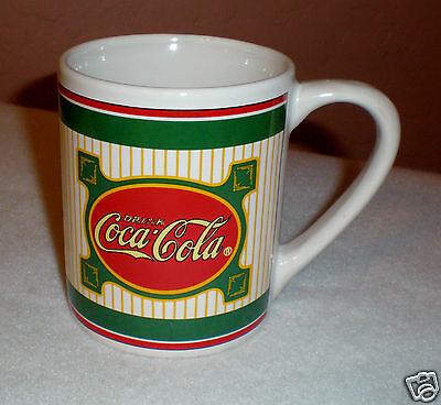 "Coca Cola Collector Mug ""Stripes and Logo Design"" by Gibson"