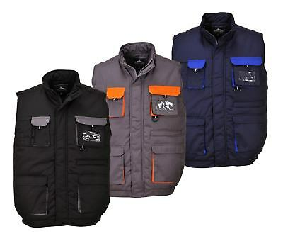 Portwest TX13 Men Work Bodywarmer Texo Polycotton Quilted Cold Protection Jacket