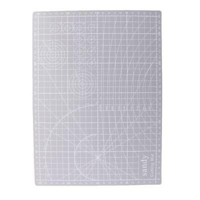 A4 Double Sided Cutting Mat PVC Cutting Board Printed Line 30x22cm Grey