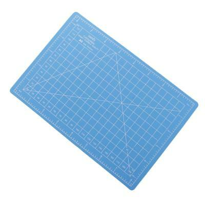 A5 22x15cm Self-Healing Cutting Mat DIY Quilting Crafts PVC Board Blue