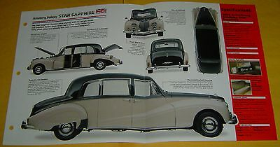 1959 Armstrong Siddeley Star Sapphire 6 Cyl Stromberg Carbs IMP Info/Specs/photo