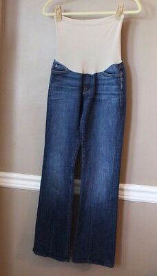 7 FOR ALL MANKiND Maternity Collection designer bootcut denim jeans 27