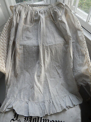 Antique Nineteenth Century Victorian Farmhouse New England Calico Apron ID'd