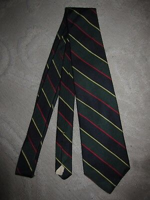 Vtg classic silk repp tie, The Burlington Knot by J. Press, woven in England