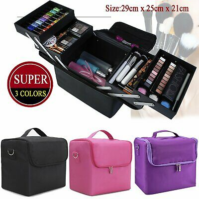 Extra Large Professional Beauty Bag Make up Nail Tech Cosmetic Box Vanity Case