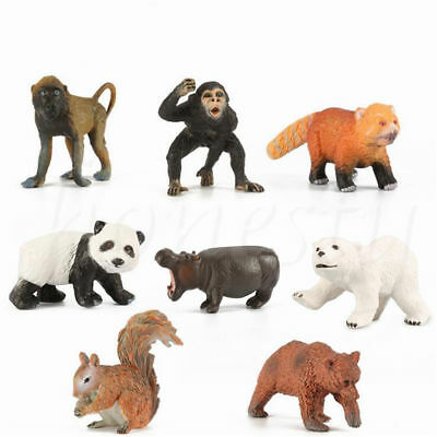 Simulation Wildlife Zoo Farm Animal Squirrel Model Figure Kids Toy Collectibles