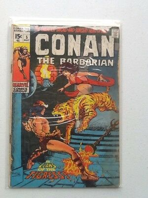 Conan The Barbarian #5 1970 Marvel Comics