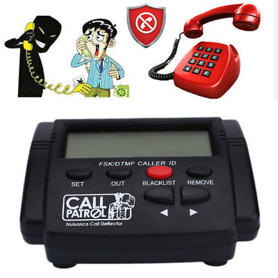 Pro Incoming Call Blocker Telephone Defense Blocking w/LCD 1000 Blacklist