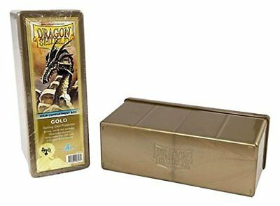 Dragon Shield Storage Box: 4 Compartments Card Game, Gold