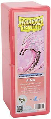 Dragon Shield Storage Box: 4 Compartments Card Game, Pink