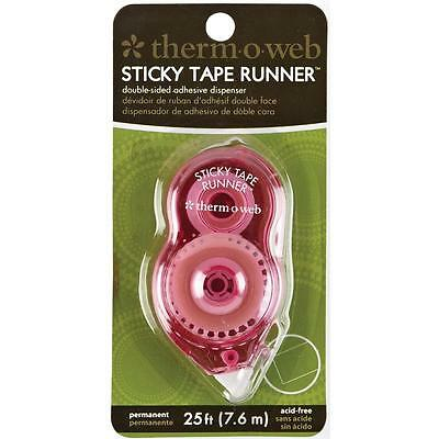 Sticky Tape #3670 Mini Runner Permanent 25' Each Double Sided Adhesive