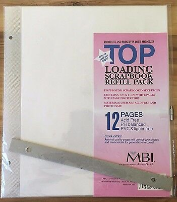 "8.5""x11"" MBI Scrapbook Refill Pages 6 Pgs/Pk w/ Posts & Spacers #872814"