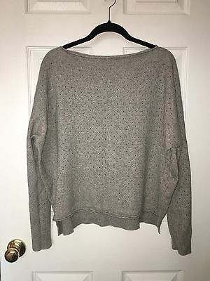 VINCE A Pea in the Pod Cashmere Blend Dolman Sleeve Hi Low Tunic Sweater Sz M