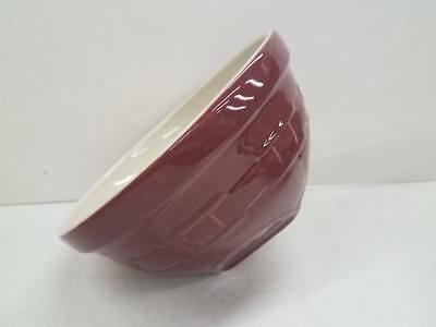 Longaberger Pottery Medium Tip and Mix Serving Mixing Bowl Paprika NEW