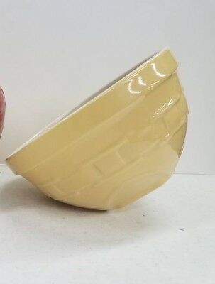 Longaberger Pottery Small Tip and Mix Serving Mixing Bowl Butternut Yellow NEW