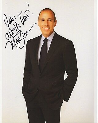 MATT LAUER AUTHENTIC SIGNED 8x10 COLOR PHOTO       THE TODAY SHOW      TO JOHN